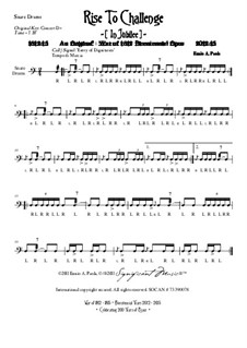 Rise To Challenge (In Jubilee): Snare drums part by Ennio Paola