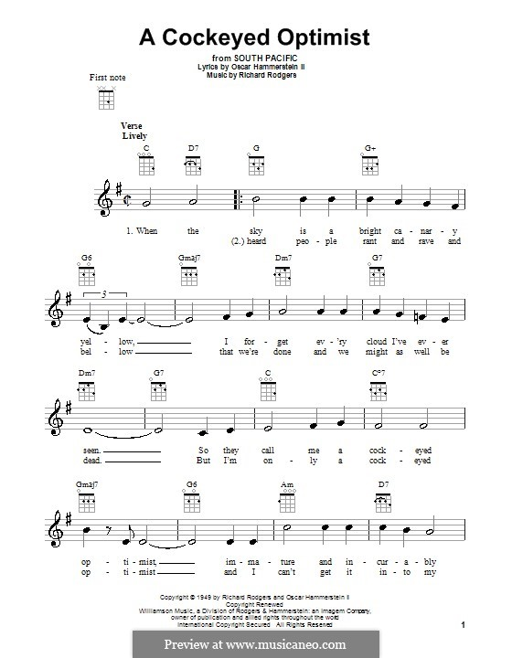 A Cockeyed Optimist: para ukulele by Richard Rodgers