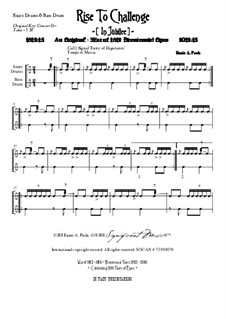 Rise To Challenge (In Jubilee): Snare drums and bass drum parts by Ennio Paola