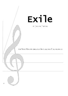 Exile (solo xylophone and live electronics): Exile (solo xylophone and live electronics) by Joseph Hasper