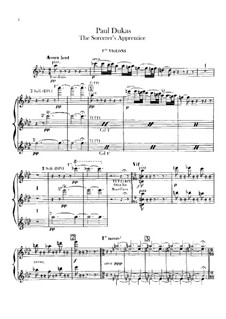 L'apprenti sorcier (The Sorcerer's Apprentice): violino parte I by Paul Dukas