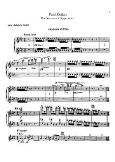 L'apprenti sorcier (The Sorcerer's Apprentice): Flutes and flute piccolo parts by Paul Dukas