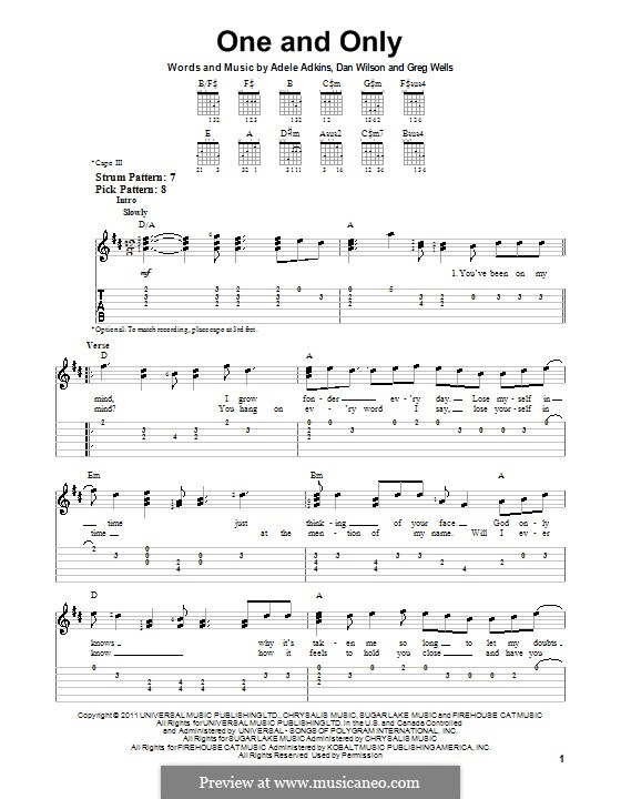 One and Only: Para Guitarra by Adele, Daniel Wilson, Greg Wells