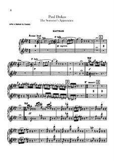 L'apprenti sorcier (The Sorcerer's Apprentice): parte oboes by Paul Dukas