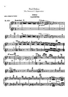 L'apprenti sorcier (The Sorcerer's Apprentice): parte clarinetes by Paul Dukas
