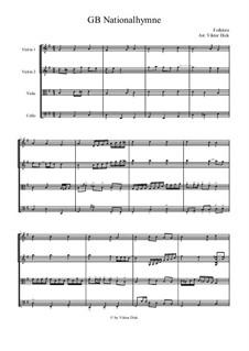 God Save the Queen: para quartetos de cordas by folklore