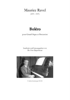 Bolero, M.81: For organ and percussion by Maurice Ravel