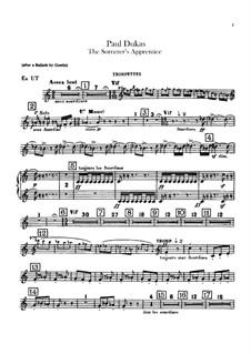 L'apprenti sorcier (The Sorcerer's Apprentice): parte Trompete e cornetas by Paul Dukas