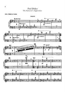 L'apprenti sorcier (The Sorcerer's Apprentice): parte harpa by Paul Dukas