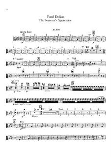 L'apprenti sorcier (The Sorcerer's Apprentice): parte violas by Paul Dukas