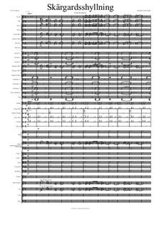 Skargardsshyllning: Partitur by Hans-Jürgen Philipp