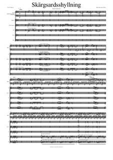 Skargardsshyllning: Partitura Piano-vocal by Hans-Jürgen Philipp