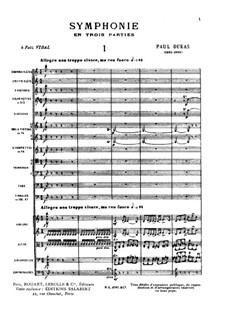 Symphony in C Major: partitura completa by Paul Dukas