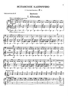 Capriccio Espagnol, Op.34: partes by Nikolai Rimsky-Korsakov
