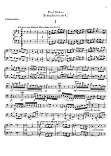 Symphony in C Major: Parte Violoncelo by Paul Dukas