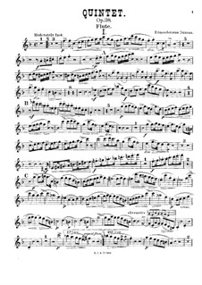 Quintet for Piano and Winds in F Major, Op.38: parte flauta by William Edmondstoune Duncan