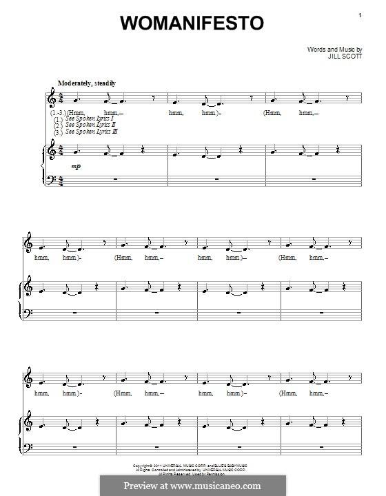 Womanifesto: Para vocais e piano by Jill Scott