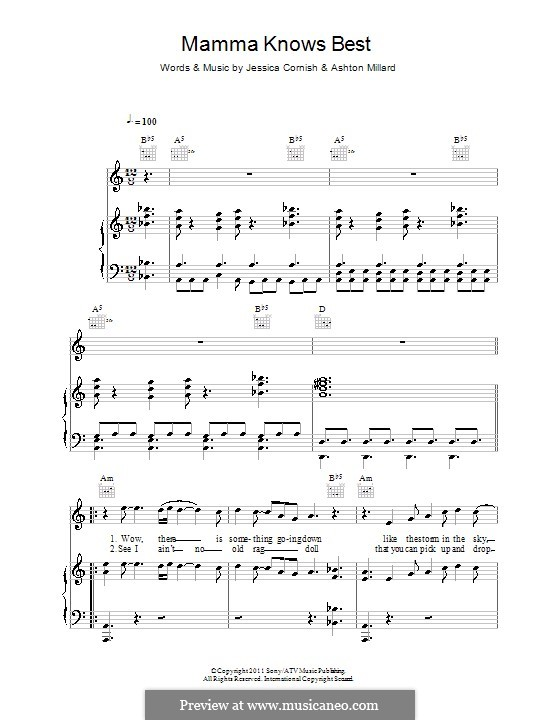 Mamma Knows Best (Jessie J): Para vocais e piano (ou Guitarra) by Jessica Cornish, Ashton Millard