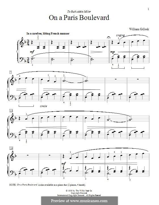 On a Paris Boulevard: Para Piano by William Gillock