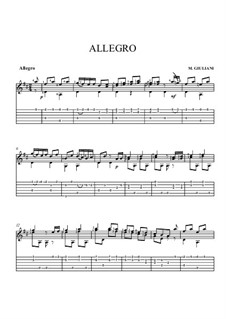 Allegro in D Major: Allegro in D Major by Mauro Giuliani