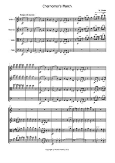 March of Chernomor: para quartetos de cordas by Mikhail Glinka