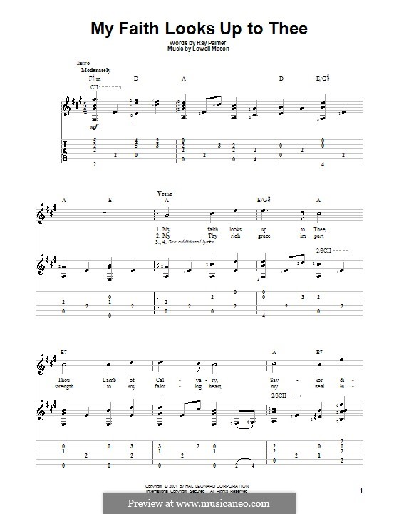 My Faith Looks Up to Thee: Para Guitarra by Lowell Mason