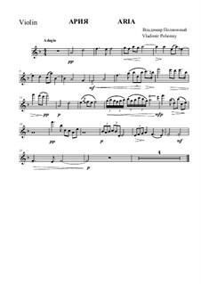 Aria for violin and piano: parte do violino by Vladimir Polionny