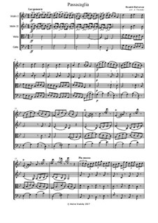 Passacaglia on Theme from Suite by G. Handel for Harpsichord: Arranjo para quarteto de corda by Johan Halvorsen
