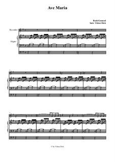 Ave Maria (Instrumental Version – Duets): Para gravador e órgão by Johann Sebastian Bach, Charles Gounod