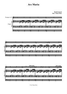 Ave Maria (Instrumental Version – Duets): Para trompete em B e órgão by Johann Sebastian Bach, Charles Gounod