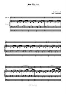Ave Maria (Instrumental Version – Duets): Para alto saxofone e órgão by Johann Sebastian Bach, Charles Gounod