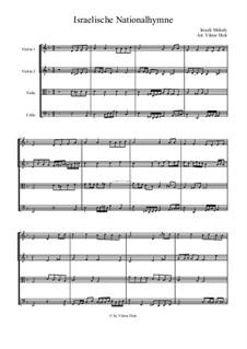 Hatikvah (With Hope): para quartetos de cordas by folklore