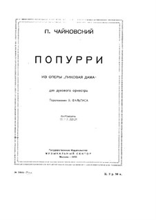 Fragments: Potpourri for wind orchestra by Pyotr Tchaikovsky