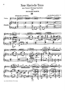 No.4-7, for Violin and Piano: No.4-7, for Violin and Piano by Antonín Dvořák