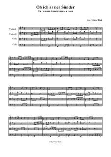 I'm a Poor Sinner: para quartetos de cordas by folklore