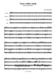 Vater erhöre mich: para quartetos de cordas by folklore
