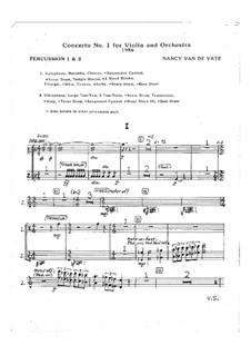 Concerto No.1 for Violin and Orchestra: partes by Nancy Van de Vate