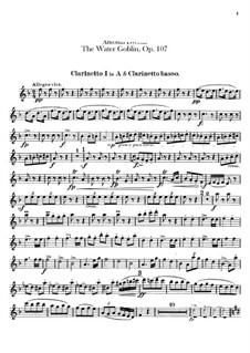 Vodník (The Water Goblin), B.195 Op.107: parte clarinetas by Antonín Dvořák