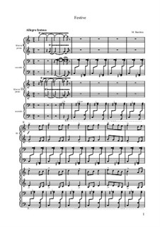 Festive, for Two Pianos Eight Hands: Festive, for Two Pianos Eight Hands by Mikhail Burshtin