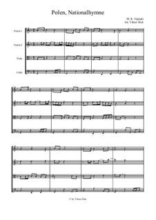 National Anthem of Poland: para quartetos de cordas by Michal Kleofas Oginski