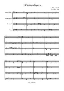 The Star Spangled Banner (National Anthem of The United States): para quarteto de bronze by John Stafford Smith