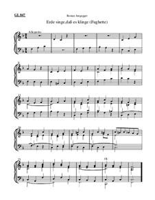 Erde singe, daß es klinge (Fughette): Erde singe, daß es klinge (Fughette) by Roman Jungegger