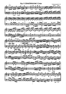 Sonatina No.1, Ор.1: Sonatina No.1 by Ksardas