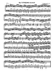 Etude No.2, Ор.7: Estudo No.2 by Ksardas