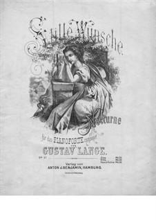 Stille Wünsche, Op.57: para um único musico (Editado por H. Bulow) by Gustav Lange