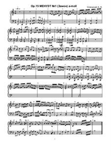 Minuet No.1, Ор.15: minueto No 1 by Ksardas