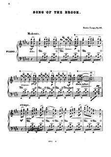 Lieder von Franz Schubert, Op.90: Song of the Brook by Gustav Lange
