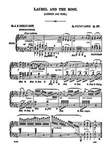 Lorbeer und Rose (Laurel and the Rose), Op.127: Para Piano by Gustav Lange