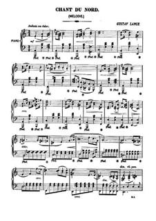 Chant du nord, Op.152: para um único musico (Editado por H. Bulow) by Gustav Lange