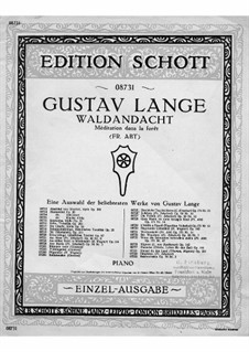 Fantasien über beliebte Lieder (Fantasias on Popular Songs), Op.171: No.11 Waldandacht by Gustav Lange